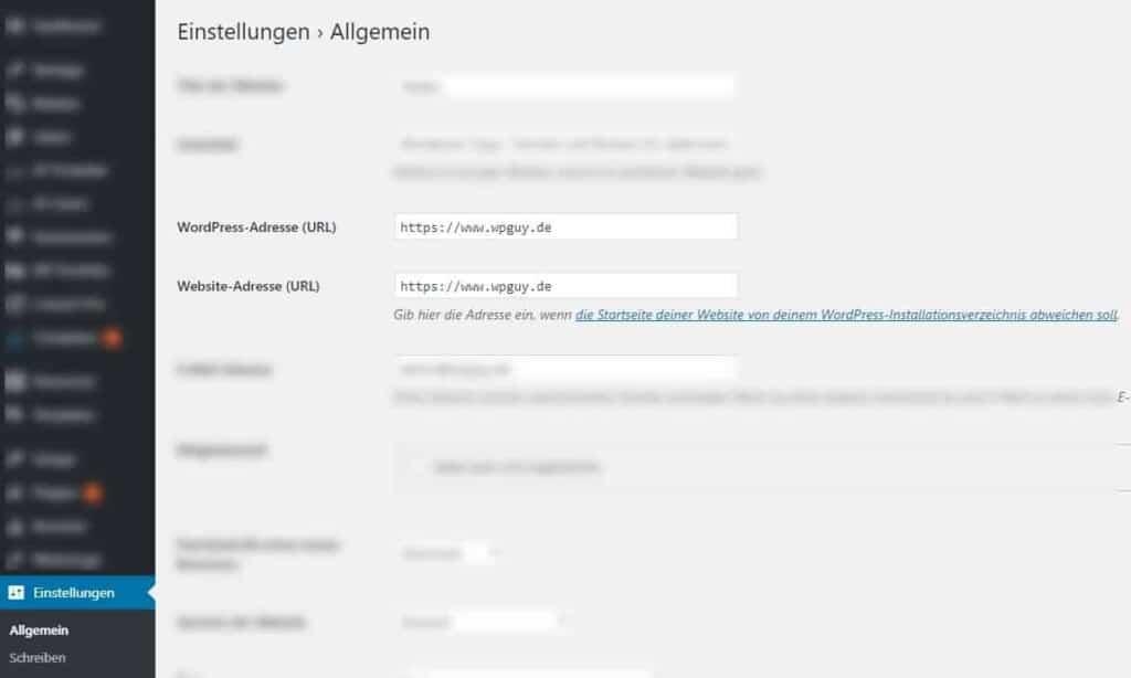 WordPress Adresse nach Migration kontrollieren