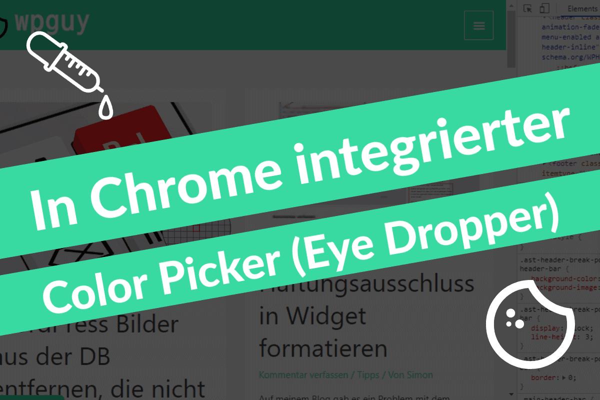 Color Picker Chrome Dev Tools Beitragsbild