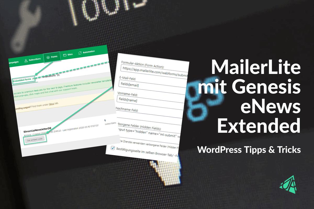MailerLite mit Genesis eNews Extended verwenden