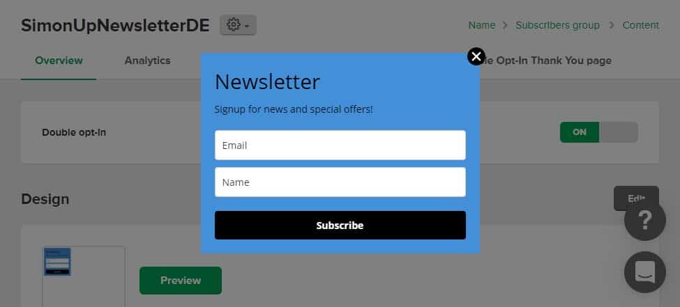 MailerLite Newsletter embeddable Form